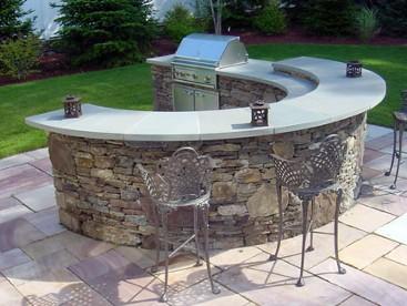 Outdoor Kitchen, Stone Bar, Portfolio, Hopkinton, MA