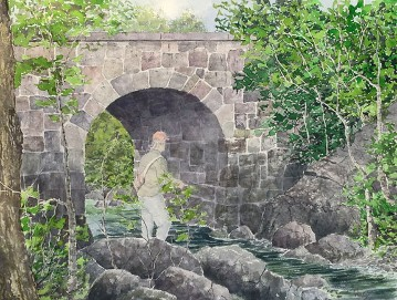 Stone Bridge, Watercolor by Doug DeWolfe of New View