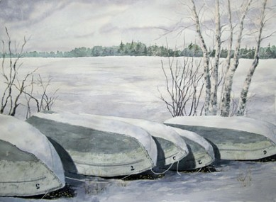 Seasons Past, Watercolor by Doug DeWolfe of New View