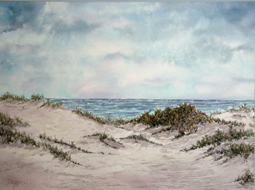 Cape Cod National Sea Shore, Watercolor by Doug DeWolfe of New View