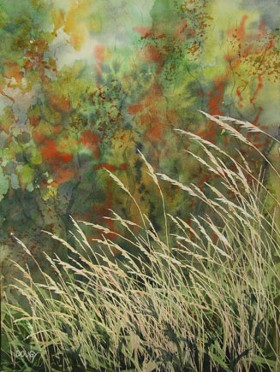 Autumn Afternoon, Watercolor by Doug DeWolfe of New View