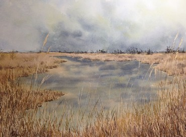 Marsh in Fall, Watercolor by Doug DeWolfe of New View