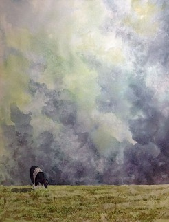 Cow, Watercolor by Doug DeWolfe of New View