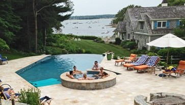 Pool, spa, Landscape Design and Construction by New View, Hopkinton, MA