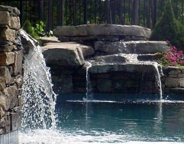 Pool Design and Landscape construction by New View, Hopkinton MA