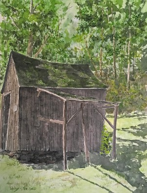 Grandpa's Shed, Watercolor by Doug DeWolfe of New View