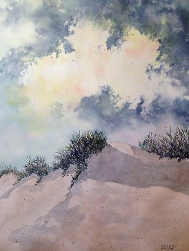 Sand Dunes, Watercolor by Doug DeWolfe of New View