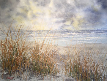 Clearing Skies Watercolor by Doug DeWolfe of New View