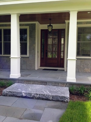 Blue Stone Walk, Veneer and Porch with Granite Step, by New View